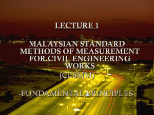 Scope of civil engineering works