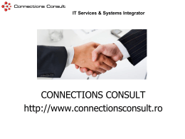 presentation - Connections Consult