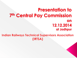 Presentation to 7th Central Pay Commission