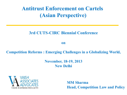 Antitrust Enforcement on Cartels (Asian Perspective