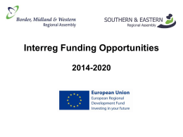 Interreg Funding Opportunities 2014-2020