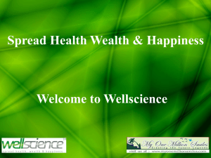 Wellscience company english presentation