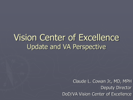 Vision Center of Excellence VA Perspective