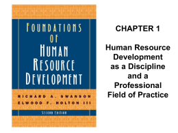 Swanson, R. A. & Holton, E. F. (2009). Foundations of Human