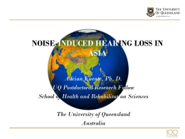 noise-induced hearing loss in asia - National Hearing Conservation