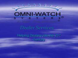 Presentation - Omni-Watch Dealer Services
