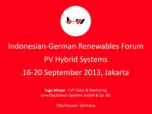 PV-Hybrid DC Power Solutions for unstable Grids