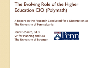 Evolving Role of the Higher Education CIO Presentation
