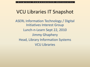 VCU Libraries IT Infrastructure