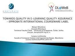 Recognizing E-Learning Quality in Global Market