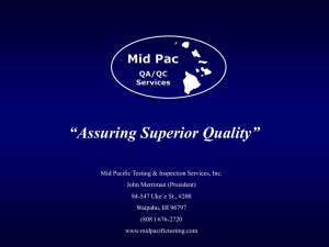 Presentation - Mid Pacific Testing & Inspection
