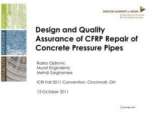 PCCP CFRP Liners - International Concrete Repair Institute
