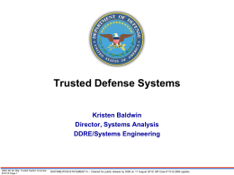 Trusted Systems - National Defense Industrial Association