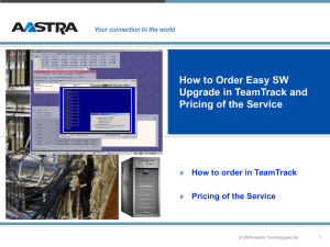 How to Order Easy SW Upgrade in TeamTrack You can order The