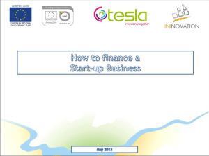 How to finance a start-up business