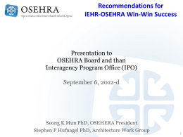 recommendations_for_iehr-osehra_win-win_success_2012-09