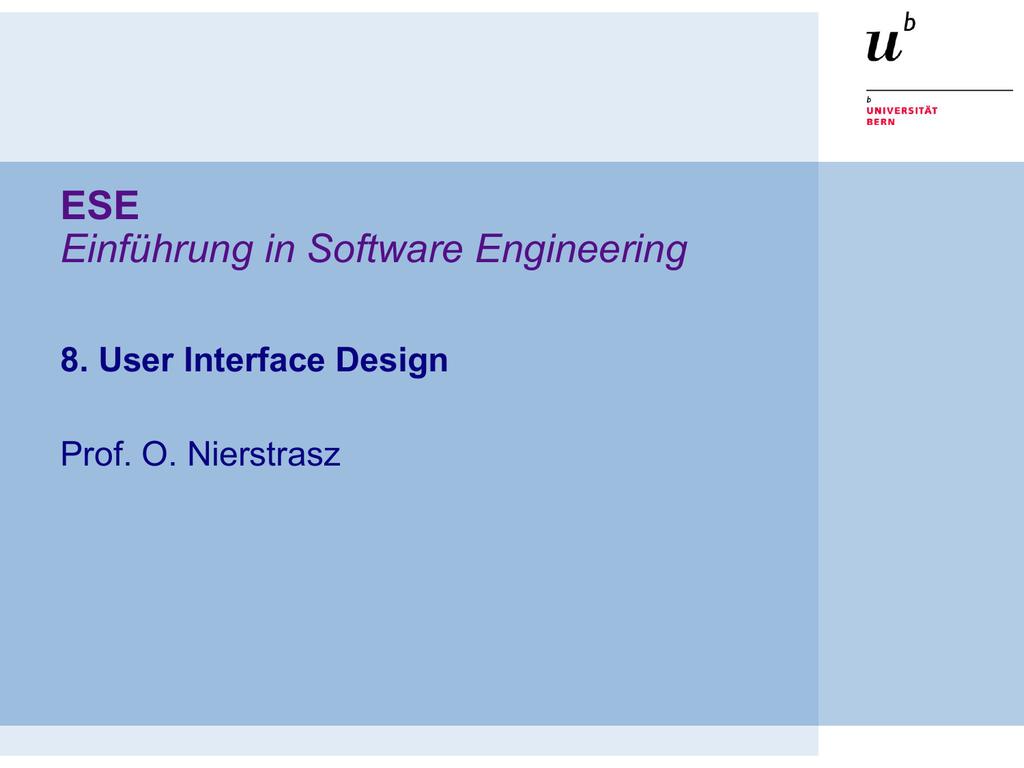 User Interface Design Principles