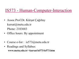 IS573 - Human-Computer