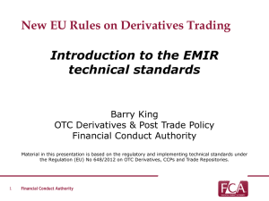 EMIR presentation to FIRMS - Financial Conduct Authority