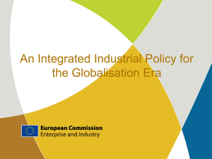 "Presentation on ""An Integrated Industrial Policy for the"