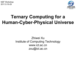 Ternary Computing for a Human-Cyber