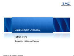 EMC-Data Domain First Call Pitch Sept 09