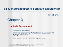 Chapter 3: Agile Development