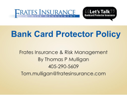 A Closer Look at Fraud - Bank Card Insurance
