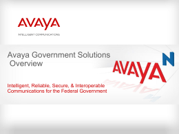 Avaya External Template for PowerPoint 2003