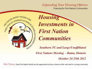 First Nations Market Housing Fund - Oct 24