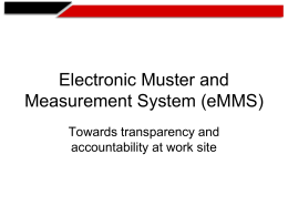 e- Muster & Measurement System
