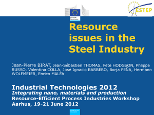 Resource Issues in the Steel Industry