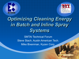 SMTAI Technical Forum Cleaning Optimization 9-22-04 - AAT