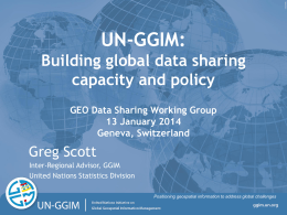 UN-GGIM - Group on Earth Observations