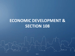 Economic Development 101 - National Community Development