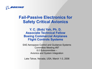 Fail-Passive Electronics for Safety Critical avionics