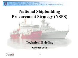 National Shipbuilding Procurement Strategy (NSPS)