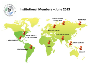 "Presentation: ""Institutional Members June 2013"