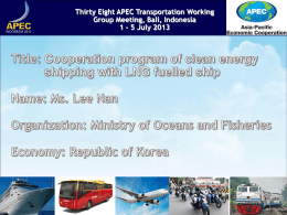 6-2 LNG fuelled ship - Asia-Pacific Economic Cooperation