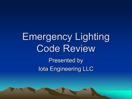 Iota EM Lighting code presentation