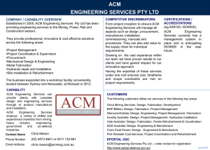 acm engineering services pty ltd