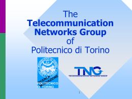Associate Professor - telecommunication networks group