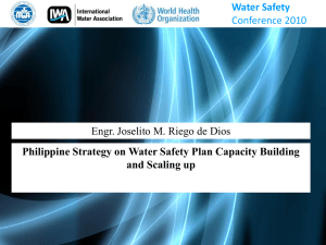 Philippine Strategy on Water Safety Plan Capacity Building