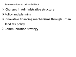 Strategy to Urban Gridlock