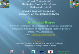 Power Market in SAARC