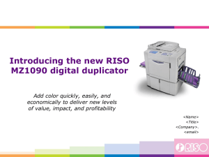New RISO MZ1090 Introduction