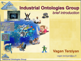 Industrial Ontologies Group (brief presentation)