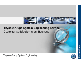 ThyssenKrupp System Engineering Service