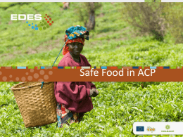 Safe Food in ACP - The International Cocoa Organization