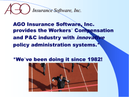 AGO Insurance Software, Inc.